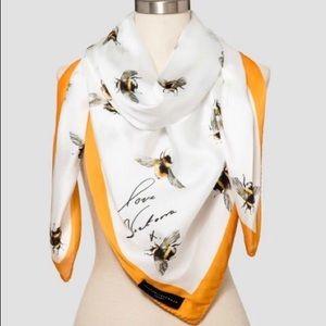 Victoria Beckham silk bee scarf